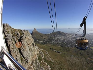 Take the cable car to the top of Table Mountain