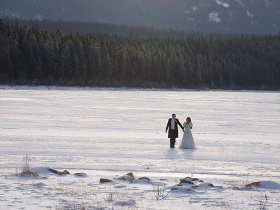 Frozen river at Jasper