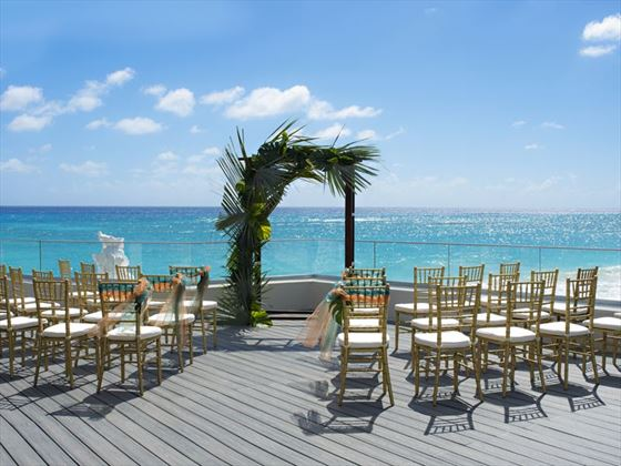 Aqua Terra Deck wedding setting