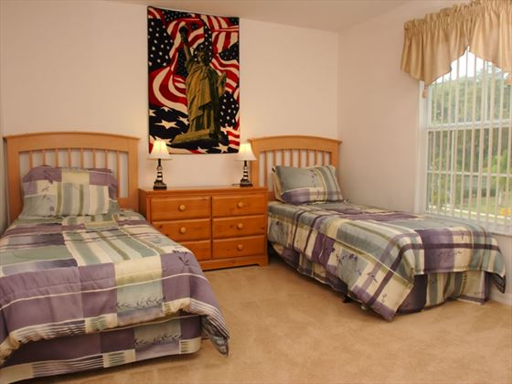 Typical twin bedroom