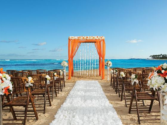 Beach wedding set up at Breathless Punta Cana Resort & Spa