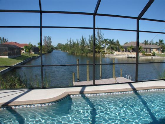 Example of a Cape Coral Area Home - Pool overlooking the Water