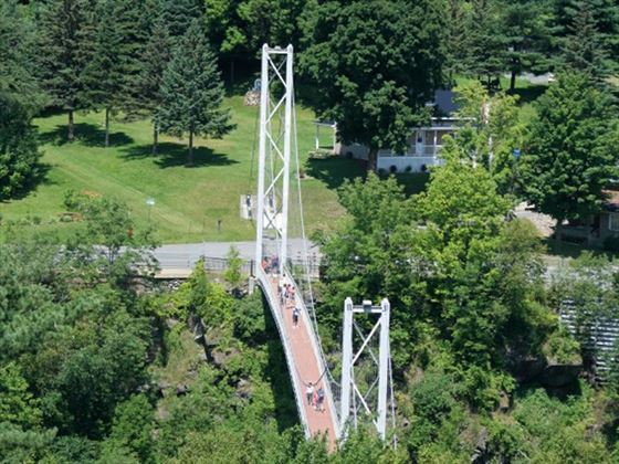 Pedestrian suspension bridge, Coaticook, Quebec