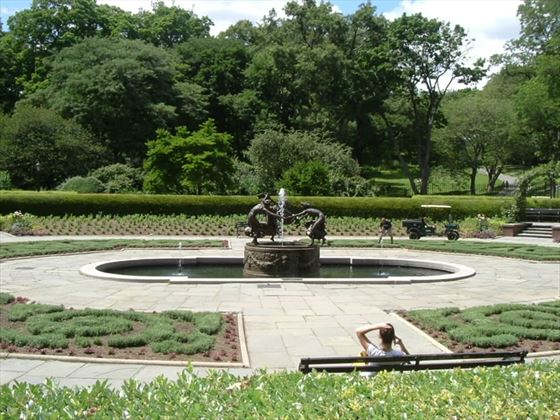 The north French Garden, Conservatory Garden