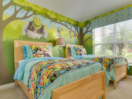 Emerald Island Shrek themed bedroom