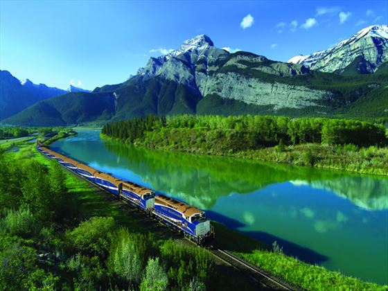 Rocky Mountaineer, Exshaw Alberta in the Bow River Valley