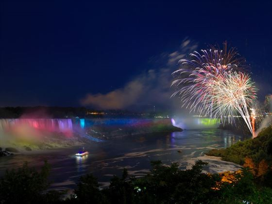 Firework display, Niagara Falls