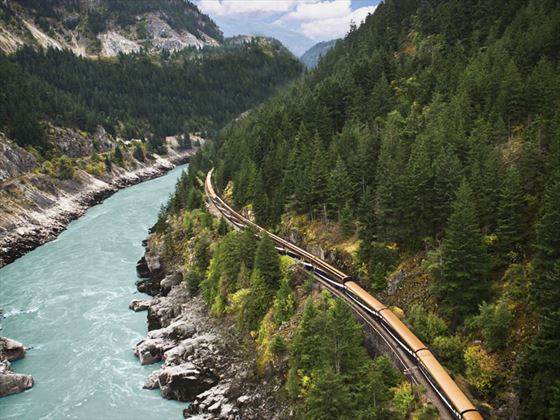 Rocky Mountaineer in Fraser Canyon