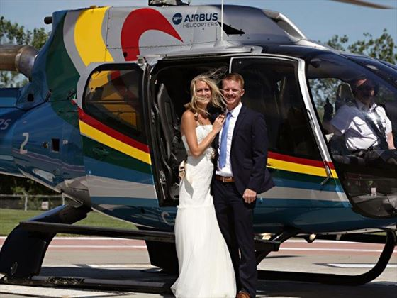 Landed, as Bride & Groom