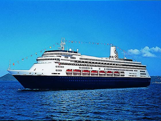 Holland America MS Volendam, at sea