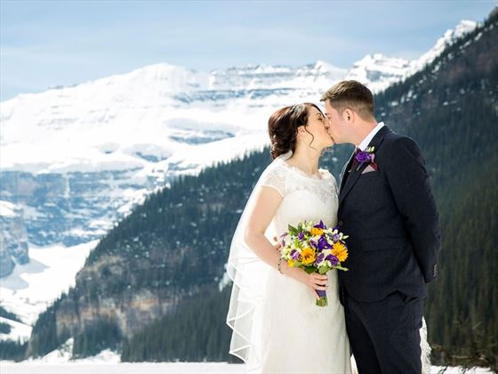 Gorgeous backdrop for your winter wedding