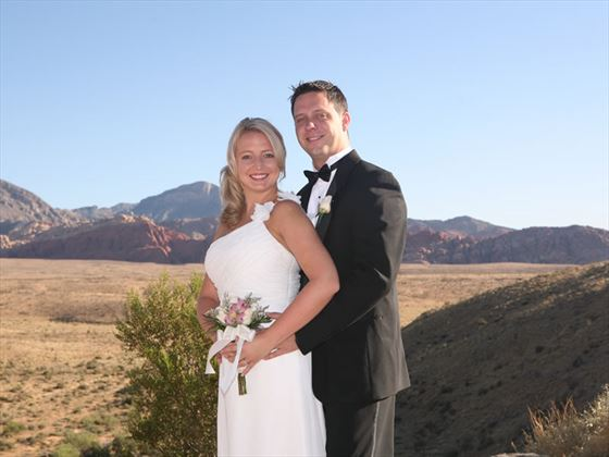 Bride and Groom at Red Rock Canyon, Las Vegas