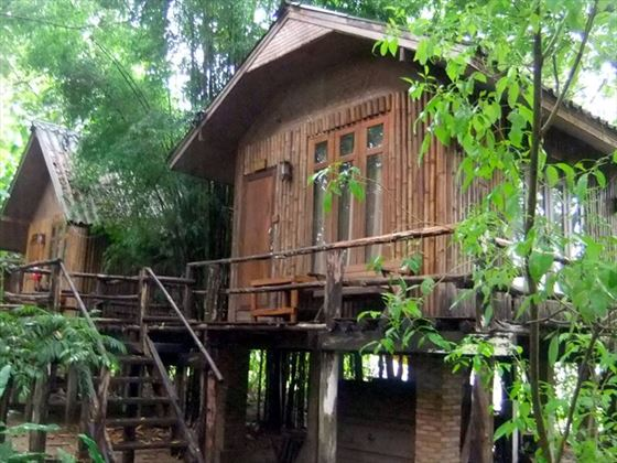 Bamboo Huts at Elephant Nature Park, Chiang Mai