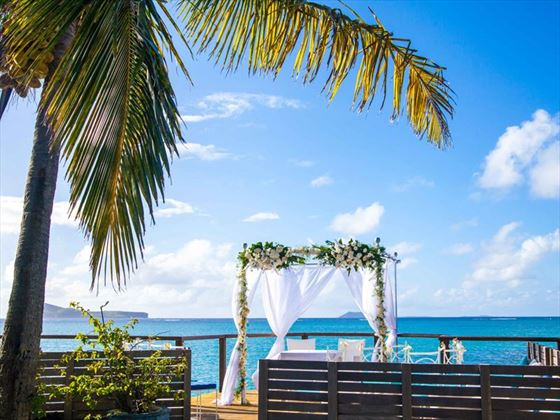 Paradise Cove wedding setting