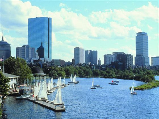 Sailboats in the Charles, Boston
