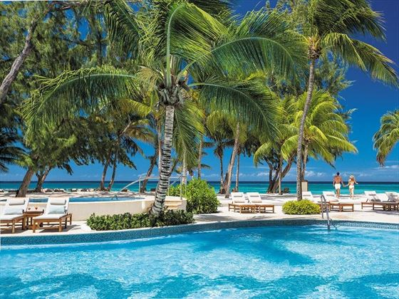 beachfront pool at Sandals Barbados