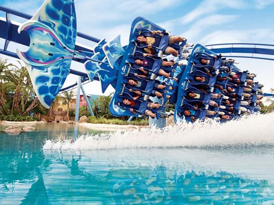 Manta rollercoaster at Seaworld, Orlando