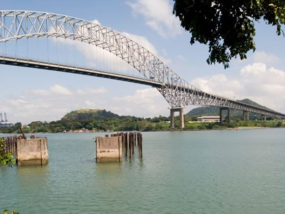 South entrance, Panama Canal, Tacher Ferry Bridge