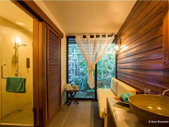 Superior Room Bathroom at Sukau Lodge