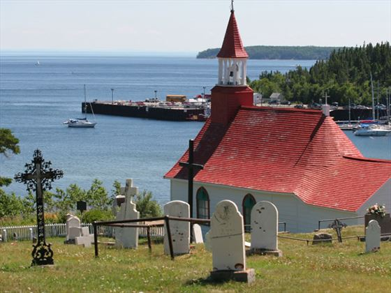 Church on St Lawrence River, Tadoussac