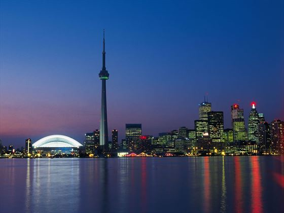 CN Tower at night, Toronto