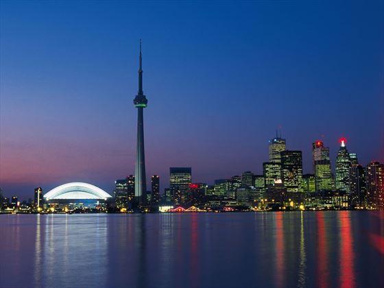 CN Tower at night, Toronto