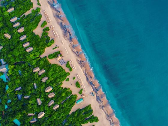 Aerial view of Uga Jungle Beach, Sri Lanka