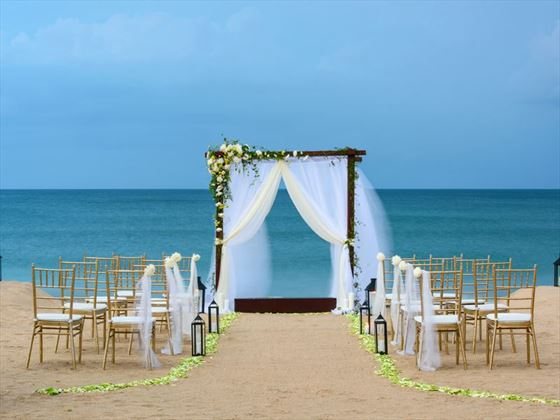 Stunning beach setting for your wedding at Uga Jungle Beach