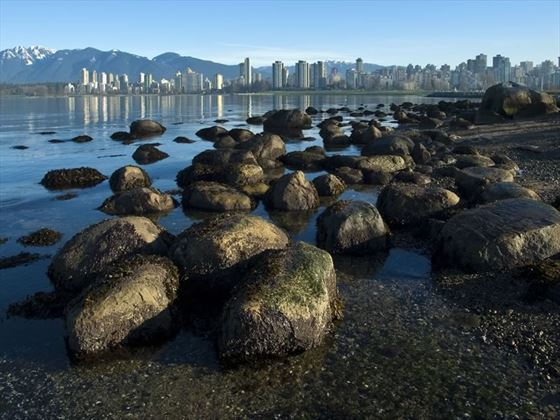 View of English Bay and downtown from Kitsilano, Vancouver