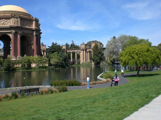The beautiful Palace of Fine Arts