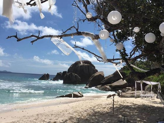 Stunning setting for your perfect wedding on Grande Anse beach