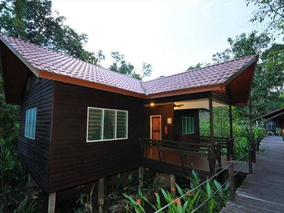Chalets at Abai Jungle Lodge, Borneo