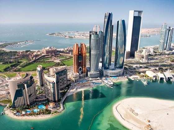 Aerial view of Abu Dhabi