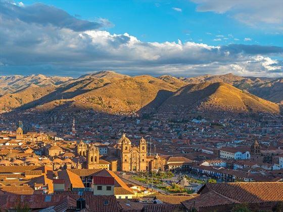 Aerial view of Cusco, Peru