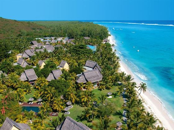 Aerial View of Dinarobin Beachcomber Gold Resort & Spa