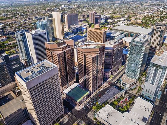 Aerial view of downtown Phoenix