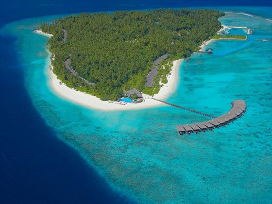 Aerial view of Filitheyo Island Resort