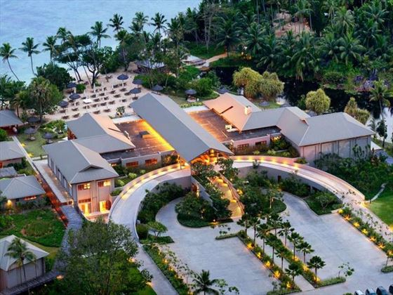 Aerial view of Kempinski Seychelles Resort