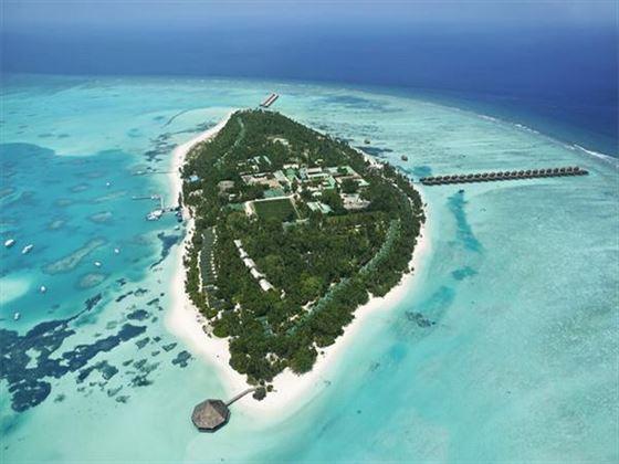 Aerial view of Meeru Island Resort