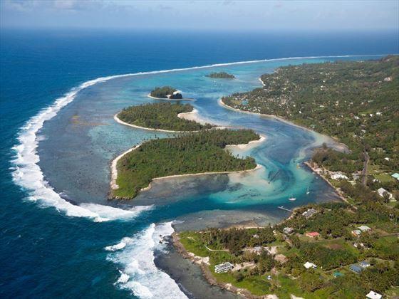 Aerial view of Muri Beach