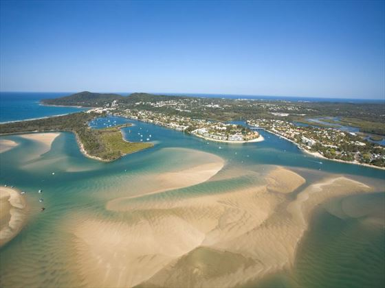 Aerial view of Noosa River