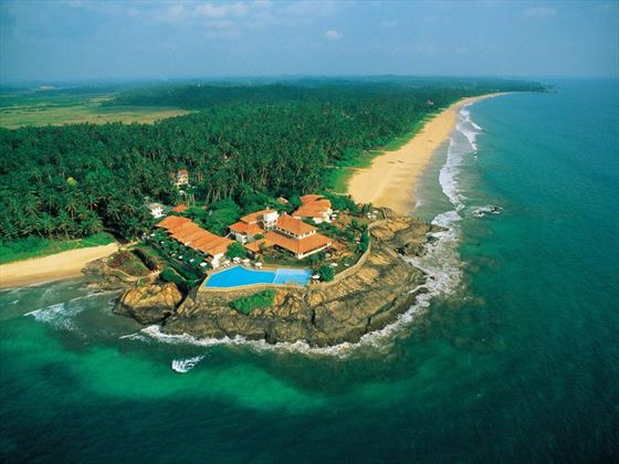 Aerial view of Saman Villas