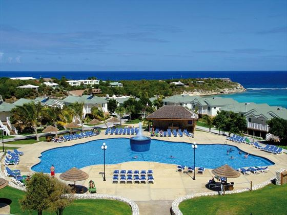Aerial view of the pool at The Verandah Resort & Spa