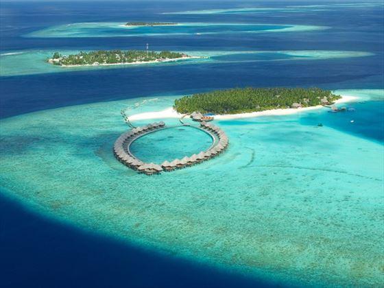Aerial view of Vilu Reef Beach & Spa Resort
