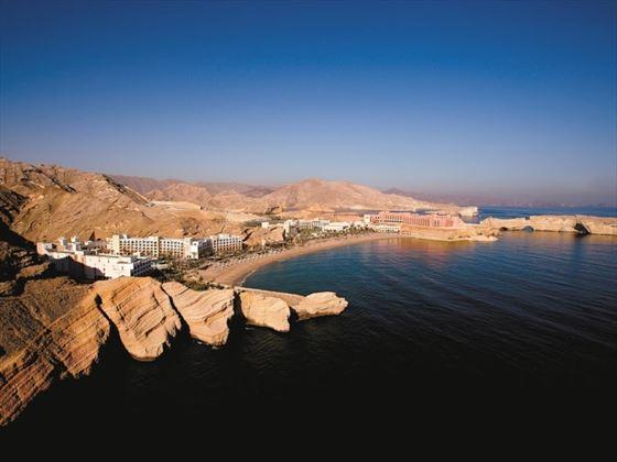 Aerial view of Shangri-La Barr Al Jissah Resort & Spa