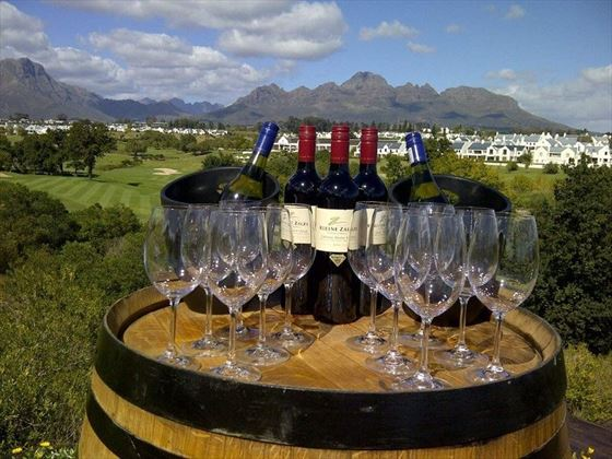 Wine tasting at aha De Zalze Lodge