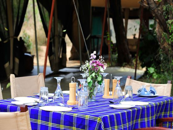 Dining at Nairobi Tented Camp