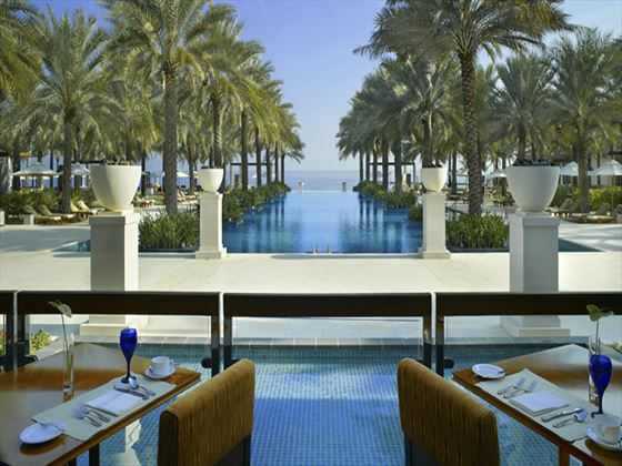 Al Khiran outdoor terrace at Al Bustan Palace