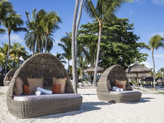 Beach cocoons at Ambre Resort & Spa