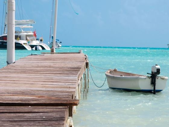 Sailing dock in Anegada